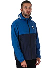 71ec4388b32e Timberland Mens Colour Block Windbreaker Jacket in Blue- Zip Fastening-  Hooded