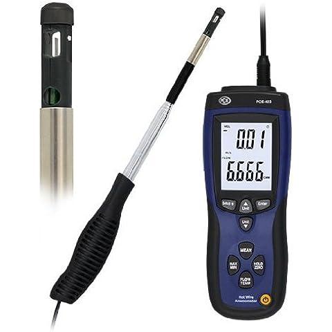 PCE Instruments - Anemómetro hilo térmico