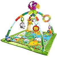 Fisher-Price Tapis musical d'éveil de la Jungle pour bébé, jouets et activités, musique et lumières dansantes