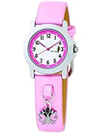 Cactus CAC-44-L05 - Reloj analógico de cuarzo para niña, correa de plástico color rosa