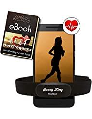 BerryKing Heartbeat 2 Bluetooth & ANT+Ceinture Pectorale moniteur de fréquence cardiaque HRM Sensor Running Aptitude Gymnase pour RUNTASTIC,WAHOO,STRAVA et pour appareils de fitness Montres de sport