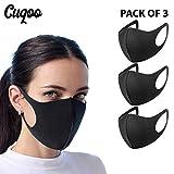 CUQOO 3x Anti Dust Mask Gezicht Mond Masker, Mode Herbruikbare Wasbaar Outdoor Unisex Masker, Anti-Vervuiling Facemask