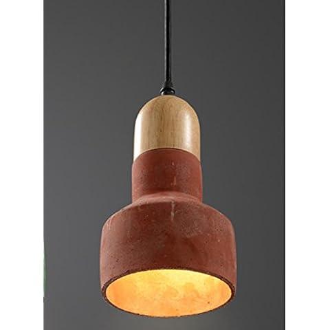 BBSLT-Lampadario Sala da pranzo, bar creativo galleria café abbigliamento memorizzare lampade nello studio del lampadario in legno-cemento , f