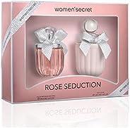 women'secret Rose Seduction Set With Body Lotion Set for Women Eau de Perfume 100ml 108-