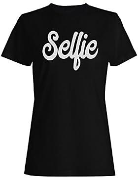 Novedad divertida del selfie camiseta de las mujeres d476f