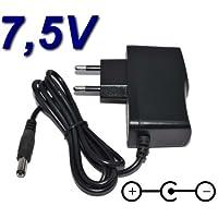 Top Cargador Adaptador Alimentación Cargador 7.5V para Teclado Casio CasioTone MT-40MT-41MT-65MT-68
