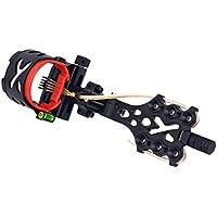 FLAMEER Black Archery Compound Bow Sight 5 Pin (.019) Se Adapta A La Mano Derecha