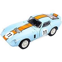 Ford Shelby Cobra Daytona Nr 11 Blau mit Orange 1964-1965 1//43 Yatming Modell ..