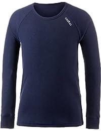 Odlo 10459 T-Shirt Manches Longues Mixte Enfant, Peacoat, FR : 14 ans (Taille Fabricant : 164)
