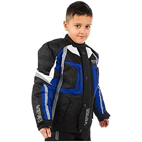Giacca Bambini Moto VIPER DRACO Bambini Giacca Moto Nero / Blu (12-13 anni)