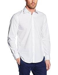 Cortefiel, VESTIR ESTAMPADO FONDO BL - Camisa para hombre