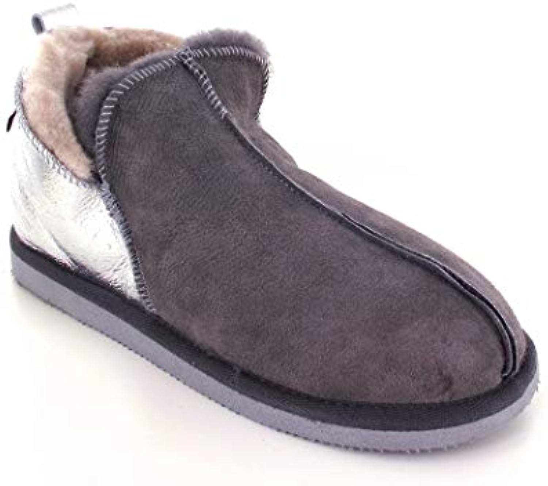 Shepherd Pastore Annie Asfalto argentoo Pantofole Pelle di Pecora | Ottima selezione  | Uomini/Donna Scarpa
