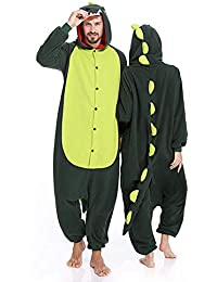 f10c09dde4 Memoryee Unisex Adultos Dinosaurio Onesies Pijamas - Traje de Felpa Fiesta  Cosplay Dinosaurio Animal Idea Idea