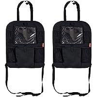 2 x LCP KIDS Tappetino protettore contro i calci seggiolino per bambini sedile anteriore posteriore di protezione con l'organizzatore