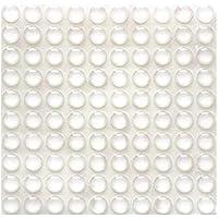 100 topes adhesivos de goma transparente, almohadillas parachoques, amortiguadores de ruido, para puertas, armarios, 9 mm de diámetro x 3 mm, transparente