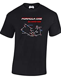New Adult Silverstone Formula One Racing Track British Grand Prix Circuit T Shirt