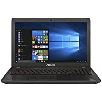 Asus FX553VE-DM486T 39,6 cm (15,6 Zoll) Notebook (Intel Core i7-7700HQ, 1000GB Festplatte, 24GB RAM, NVIDIA GTX 1050Ti, Win 10) Schwarz