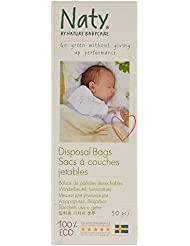 Naty by Nature Babycare Eco Disposable Bags for Nappies, 50 Bags