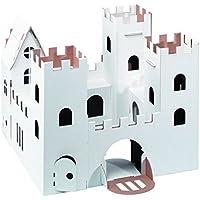 CALAFANT - Castillo nivel 3. Montar, pintar y jugar con el castillo de cartón ondulado de alta calidad.