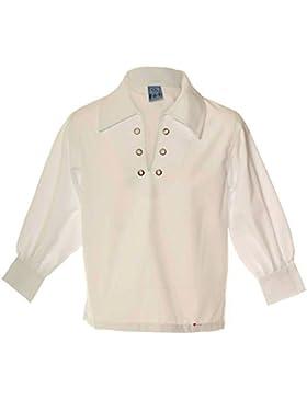 Boys Basic Scottish Ghillie Shirt In White Size 9-10 Years