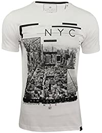 Dissident Mens New York Graphic Print T-Shirt NY High'