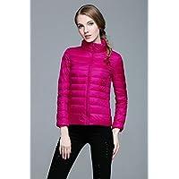 WJP mujeres ultra ligero de la chaqueta poco voluminoso abajo Outwear amortiguar por la chaqueta W-2203