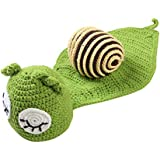 YeahiBaby Newborn Photography Costume with Snail Pattern Baby Infant Photo Shoot Outfits Knitted Pants Baby Shower Gift