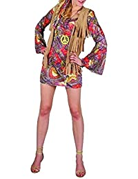 Islander Fashions Disfraz de nia de las flores de Woodstock para mujer Disfraz de nia de