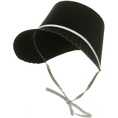 Black Permafelt Pilgrim Thanksgiving Costume Bonnet by Jacobson Hat Company