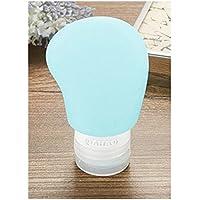 SUPRERHOUNG Botellas separadas de Viaje Botella de Viaje de 60 ML Botella de Crema de Belleza Ojo Botella de tamaño de Viaje de Aire de Perfume (Azul) Botellas desinfectantes para Manos