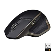 Logitech MX Master Wireless Mouse, Laptop/PC/Mac compatible, Bluetooth or 2.4 GHz with USB Unifying Receiver, 40 days battery life, Any Surface Laser, 5-Buttons, Amazon Exclusive- Graphite Black