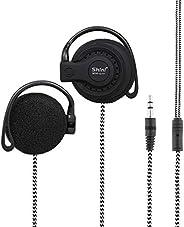 3.5mm Wired Gaming Headset On-Ear Sports Headphones Ear-hook Music Earphones for Smartphones Tablet Laptop Des