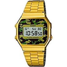 Casio Collection Reloj Digital Unisex con Correa de Acero Inoxidable – A168WEGC-3EF