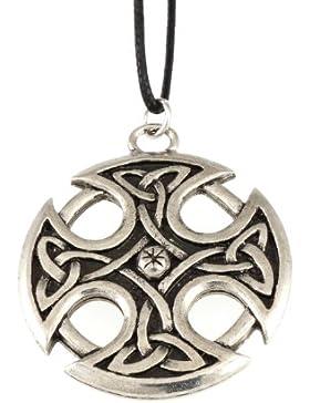 Handgemachte Courtney Davis Viking Keltische Triquetra Nevern Kreuz Zinn Anhänger Halskette