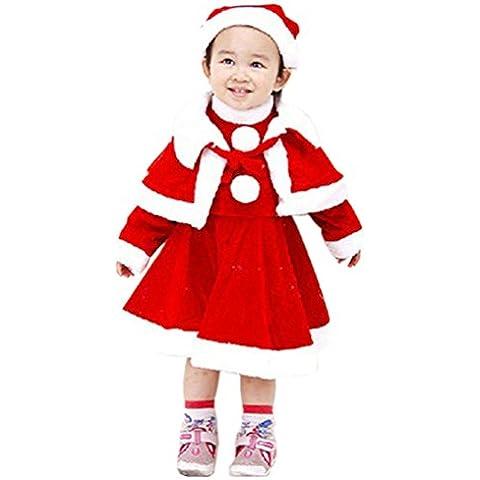 Waboats Mamá Noel Disfraz Santa Vestido Conjunto Navidad Bebé Niñas