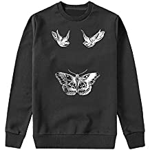 f6aaa21f08b8 MYMERCHANDISE Harry Styles Tattoos One Direction 1d Tattoo Felpa con  Cappuccio Crewneck Maglione Sweater Sweatshirt Unisex