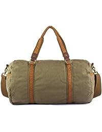 Gootium Canvas Travel Duffel Overnight Weekend Holdall Bag for Men and Women