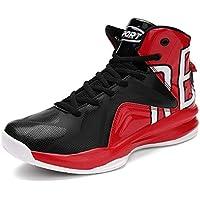 Lxmhz Zapatos Hombre de Baloncesto Antideslizante Botas Antideslizantes Resistentes al Desgaste de Choque de Aire absorción