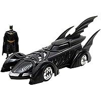 Jada Toys–Batman Forever con Figura Batmobile, 98036bk, Negro, en Miniatura (Escala 1/24