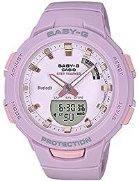 Casio Analog-Digital Purple Dial Women's Watch-BSA-B100-4A2DR (BX148)