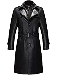 low priced 6ec64 6d2f6 Amazon.it: Cappotto in pelle - Cappotti / Giacche e cappotti ...