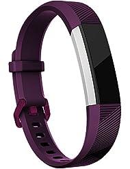 Fitbit Alta (HR) Correa, HUMENN Edición Especial Deportes Recambio de Pulseras Ajustable Accesorios para Fitbit Alta / Fitbit Alta HR Pequeño Ciruela