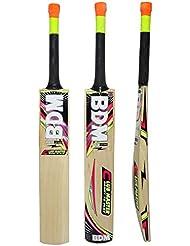 Tamaño BDM Club de Adultos Maestro bate de cricket lleva la caja Cachemira Willow Wood corto Mango - Elija Peso