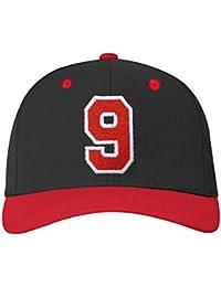 4sold ABC Baseballkappe Druckknopfverschluss verstellbar mit flachem Schirm baseball cap