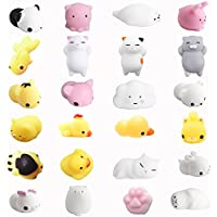 Amaza 24pcs Squishys Kawaii Squishy Juguetes Squishies Animales Slow Rrising Squeeze Kids Toy Gift (Multicolor