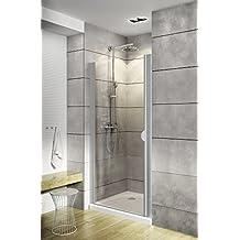 Schulte porte de douche pivotante, paroi en niche, verre transparent,  traitement anti- 78877a13299