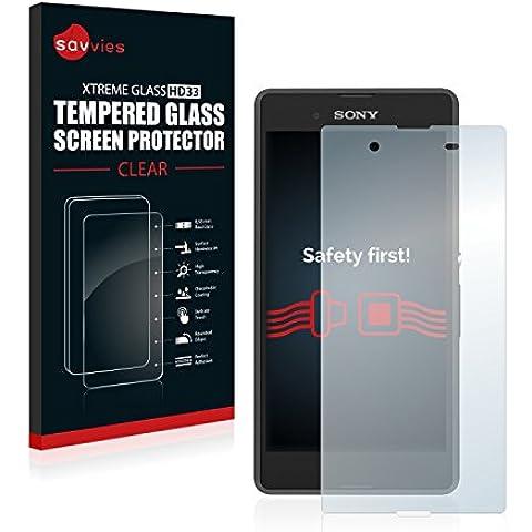 Savvies Protector Cristal Templado Sony Xperia E3 D2202 / D2203 Protector Pantalla Vidrio - Dureza