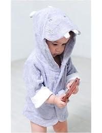 Peignoir Sortie de Bain Animaux pour Bébé Robe de Chambre Hippo Hippopotame