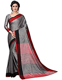 Perfectblue Women's Linen Saree With Blouse Piece (LinenMVRVariation)