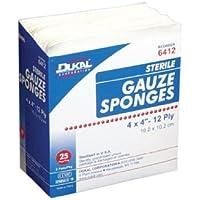 "DUKAL Sterile Gauze Sponge, 4"" x 4"", 8-Ply, 1200/Ca, DUK6408 by DUKAL preisvergleich bei billige-tabletten.eu"